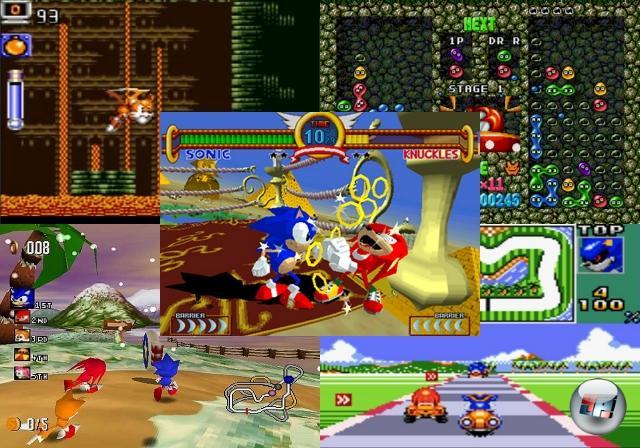 <b>Diverser Kram</b><br><br>Wie das so oft mit Erfolgsgeschichten ist: Nicht alles, was man macht, ist ein Volltreffer. Die guten Sachen bleiben hängen, der Mist wird unter den Teppich gekehrt. Da die Menschen aber neugierig sind und erstaunlicherweise gerne mal unter den einen oder anderen Teppich schauen, können auch wir nicht die Finger davon lassen, euch darauf hinzuweisen, dass Sonic im Laufe seines Lebens ziemlich viel Mist gebaut hat - meist im Rahmen von aktuellen Trends, denen man wohl unbedingt hinterher laufen musste. So gibt es u.a. mehrere Kartspiele (Sonic Drift 1 & 2), Flipper-»Simulationen« (Sonic Spinball, Sonic Pinball Party), wörtlich zu nehmende Rennspiele (Sonic R, Sonic Rivals 1 & 2) und Hoverboard-Rasereien (Sonic Riders, Sonic Riders: Zero Gravity) - selbst Beat-em-Ups war die Blauhaut nicht abgeneigt, wie der Virtua Fighter-Verschnitt Sonic The Fighters sowie Sonic Battle für GBA beweisen. Soll mal noch einer sagen, dass Igel nicht multifunktional einsetzbar seien. 1858943