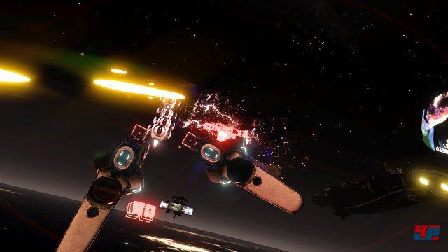 In Space Pirat Trainer hilft Dauerfeuer ohne präzises Zielen nichts.