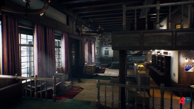 Sehenswert: The Suicide of Rachel Foster ist kein Texturwunder, aufgrund der extrem starken Beleuchtung sieht das Timberline-Hotel aber sehr schick aus.