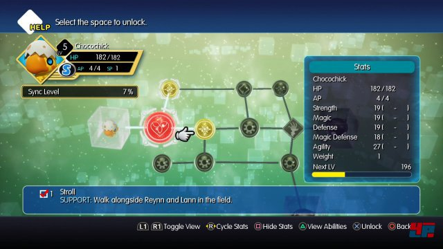 Die Mirage-Boards zur Entwicklung der Monsterfähigkeiten oder Attribute erinnern an kleine Ausgaben des Sphärenbretts aus Final Fantasy 10.