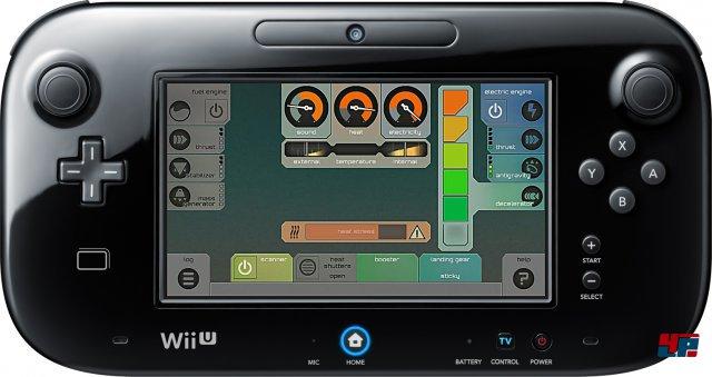 Das Cockpit für den Schoß: Die Steuerungs-Systeme auf dem Gamepad erfordern viel Fingerspitzengefühl.