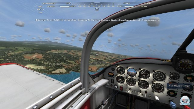 Hat die Maschine ein Cockpit, kann man sich darin frei umsehen. Und die Aussicht ist gut: MSF ist ein ansehnliches Spiel.