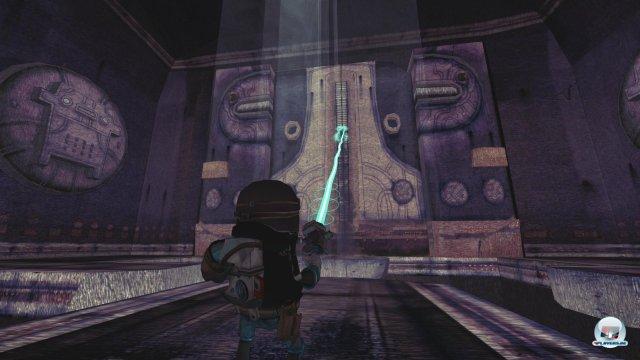 Wink mit dem Zaunpfahl: Meist weist die Umgebung darauf hin, wo man am besten die Laser-Schere ansetzt.