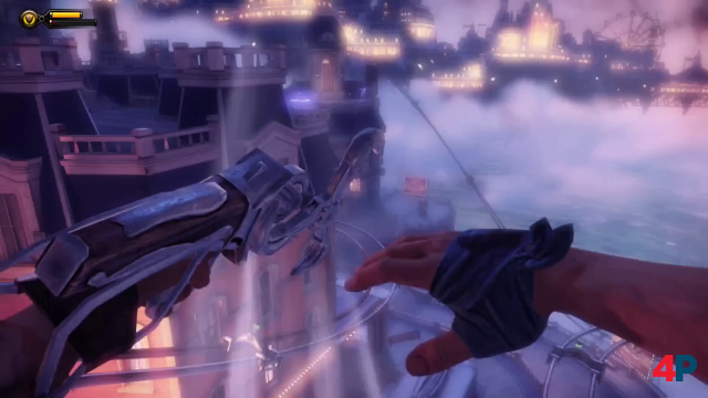Vor allem BioShock Infinite fasziniert außerdem mit seiner akrobatischen Action.