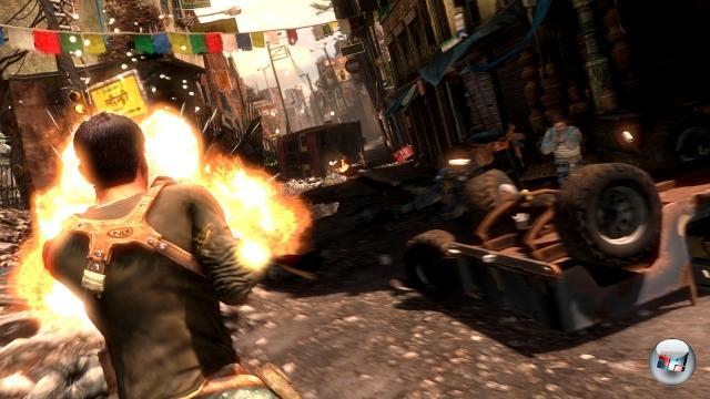 <b>Uncharted 2</b><br><br>Der Vorgänger ist optisch nach wie vor eines der besten PS3-Games, und spielerisch ebenfalls nach wie vor ganz weit vorn. Für den Nachfolger verspricht Entwickler Naughty Dog nochmals verbesserte Technik sowie einen Mehrspielermodus. 1954153