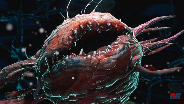 Unter dem Mikroskop werden gefährliche Viren unter die Lupe genommen, was in Form eines Minispiels abläuft.