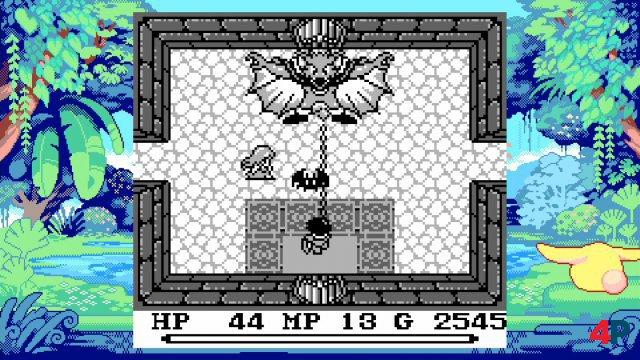 Der Schwarz-Weiss-Modus von Mystic Quest.