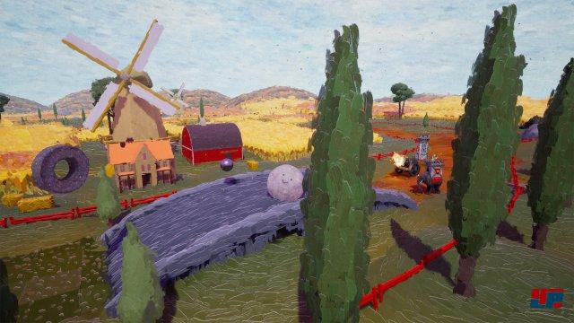So sieht die Welt von Rock of Ages 2 im Stile eines Impressionisten wie Vincent Van Gogh aus.