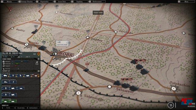 Die Attacke wird auf der Karte geplant