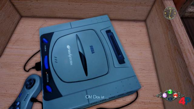 Sega-Fans freuen sich: In Teil 1 hatte Ryo eine Saturn-Konsole im Wohnzimmer, diesmal findet er eine in einer Schublade.