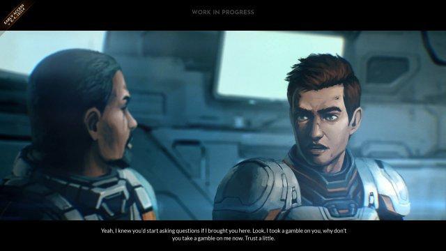 Animierte Zwischensequenzen führen die Geschichte zwischen den Einsätzen fort.