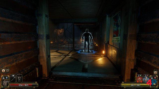 In den düsteren Korridoren der abgeschotteten Forschungsstation lauern viele Gefahren.