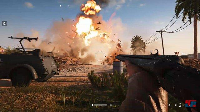 In den Gefechten geht wieder viel zu Bruch. Vor allem die heftigen Explosionen sehen fantastisch aus.