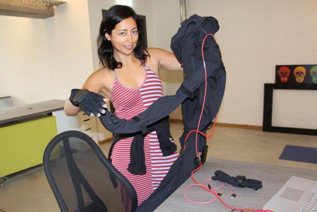 """Leilani Franco tüftelte bei unserem Besuch für ihren """"Digital Circus"""" an Motion-Capture-Aufnahmen."""