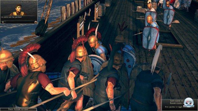 Auch auf hoher See wird gekämpft - inklusive Rammen, Feuer und Entermanöver.