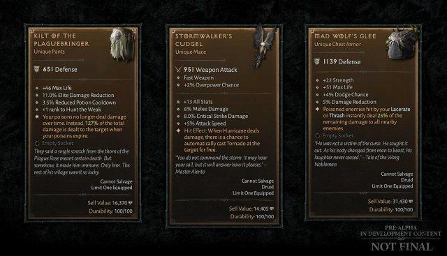 Einzigartige Gegenstände kehren in Diablo 4 zurück.