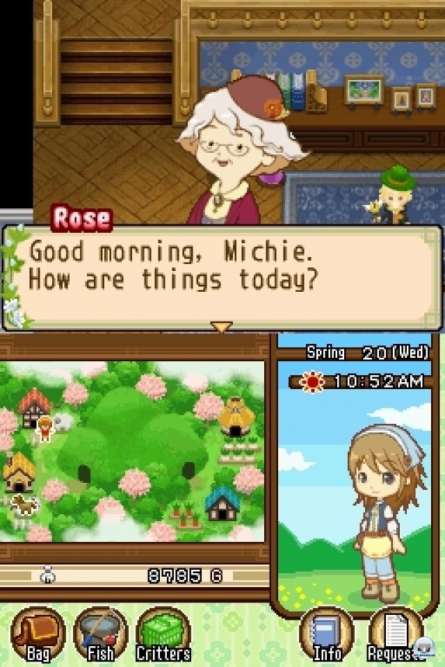 Screenshot - Harvest Moon: The Tale of Two Towns (NDS) 2232018