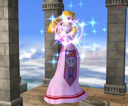Zelda setzt den Such-Zauber ein.