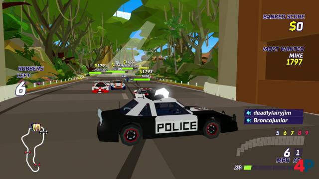 Wie ihr die Gangster in Räuber und Gendarm aufhaltet, bleibt euch überlassen. Besonders im Multiplayer und für vier Splitscreen-Spieler  entstehen unterhaltsame Situationen.