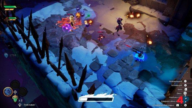 Strife entlädt seine aufgeladene Superserie in einen Gegner (Switch).