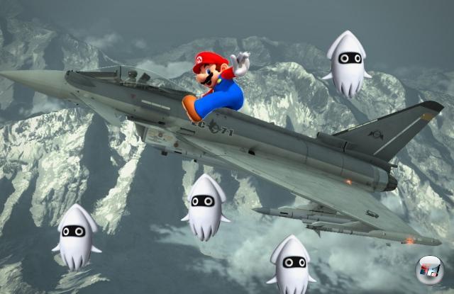 Heiße Jets<br><br>JAAAAAAAA! Raketen! Bomben! Mach 6! Mach 7! Mach 200! RATATATATATATATATA! Wenn das nicht im Mario Kart-Universum fehlt, was dann? Okay, entfernt sich vielleicht minimal vom eigentlichen Serienanspruch, aber man muss ja mit der Zeit gehen. Außer im Online-Modus, der bleibt auf Freundescodes beschränkt. 1780038