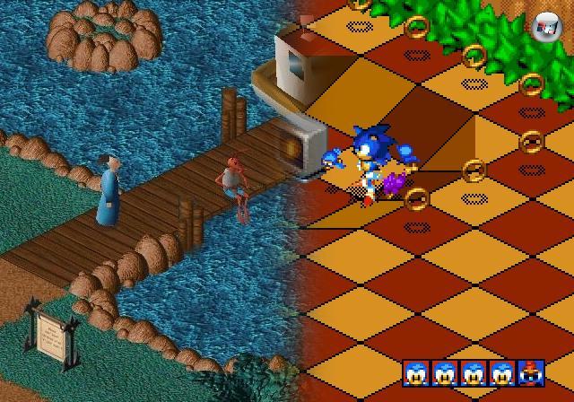 Irgendwann, der technische Fortschritt schritt schließlich fort, mussten die platten Welten der zwei Dimensionen verlassen werden - aber die ersten Schritte waren noch zögerlich. Iso-Hüpfer wie Sonic 3D Blast oder Little Big Adventure litten oft darunter, dass sich die Distanz von Sprüngen aufgrund der Perspektive schwer abschätzen ließ - ein Problem, das übrigens nicht nur Plattformer betraf, sondern fast alle Spiele, die auf diese schräge Übersicht setzten. 2100108