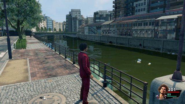 Wie gewohnt führt Yakuza an einen detaillierten urbanen Schauplatz...