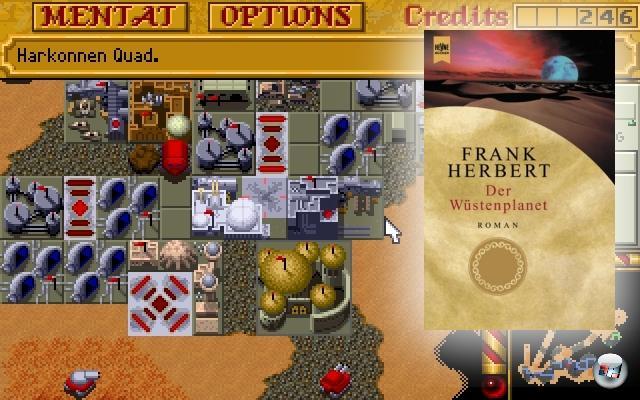 <br><br><b>Dune</b> (Frank Herbert, 1965)<br><br>Frank Herberts sandige Saga hat einige verspielte Adaptionen hervorgebracht, von denen Westwoods Echtzeitstrategie-Klassiker »Dune 2« wohl die bekannteste ist - bot sie doch nicht nur eine interessante Sichtweise auf die Vorlage (da das Spiel auf dem 1984er Film von David Lynch basiert), sondern ebnete gleich mal einem ganzen Genre den Weg. Das Original-Spiel Dune von Cryo Interactive kann dagegen locker unter den Tisch fallen gelassen werden, war es doch ein sandtrockenes Adventure - typisch für Cryo. 2056793