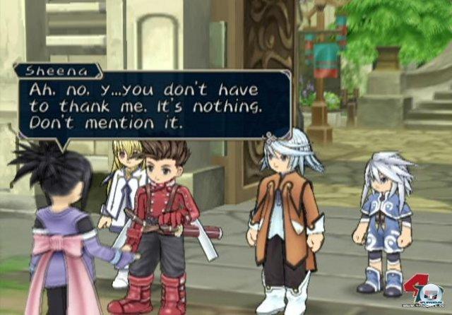 <b>Tales of Symphonia</b><br><br> In Japan bremste der Mangel an Rollenspielen den Erfolg der Konsole. Ein paar Perlen gab es trotzdem: Dazu zählen z.B. Namcos episches Tales of Symphonia ? ein Anime-Spiel mit Echtzeitkämpfen. Auch die erweiterte Dreamcast-Umsetzung Skies of Arcadia Legends hatte es in sich. Technik und Präsentation waren zwar nicht mehr zeitgemäß, doch die strategischen Luftschlachten fesselten wieder lange an den Bildschirm. 2347147