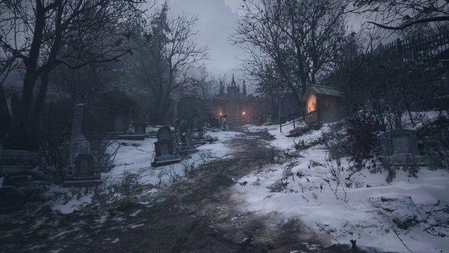 Als die Ereignisse eskalieren, rettet sich Ethan in ein Dorf. (PC)
