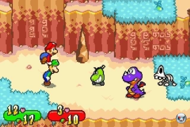 Es gibt viele Zeichen dafür, dass es auf der Welt unfair zugeht: Wenn GTA 4 eine höhere Wertung kassiert als Metal Gear Solid 4. Wenn Deutschland 2:1 gegen Kroatien verliert. Wenn die zum Überleben benötigte Milch von dem vor dir in der Kaffeeschlange stehenden Mistkerl alle gemacht wird. Aber das Schlimmste, was Spielern passieren konnte war, dass das großartige Super Mario RPG niemals offiziell in Europa veröffentlicht wurde! Japaner und Nordamerikaner lachten sich ob der minderbemittelten Altkontinentler ins Fäustchen und schoben das Modul grinsend in ihre SNES-Konsolen. Rache! Immerhin kamen auch wir ein paar Jahre darauf in den Genuss der tollen Paper Mario Games, aber das bislang beste Mario-RPG fand 2003 auf dem GBA statt: Mario & Luigi: Superstar Saga bot ein durchdachtes Kampfsystem, tolle Grafik und eine der albernsten Stories, die man für Geld bekommen konnte. Der zwei Jahre darauf erschienene DS-Nachfolger war auch in jeder Hinsicht super, aber das Herz hängt doch ein bisschen stärker am Original. 1805128