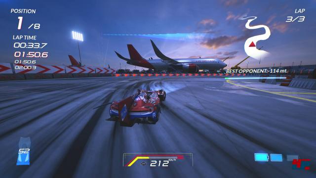 Auf den ersten Blick fängt Xenon Racer die Faszination klassischer Arcade-Racer erfolgreich ein.