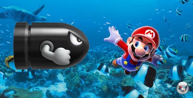 U-Boote<br><br>Mario Kart hat schon viel zu lange an der Erdoberfläche gespielt, irgendwann kann man den grauen Asphalt nicht mehr sehen. Und wozu hat Nintendo denn diese ausgesprochen blaue Endless Ocean-Engine? Zack, Taucher und Karpfen raus, dafür Tintenfische und Roboter-Haie rein! Statt Schildkrötenpanzer schmeißt der Schnauzer-Käptn eben mit grinsenden Torpedos um sich, das Ergebnis wird ohnehin recht ähnlich sein. Nur die Unterwasserdrifts dürften eine Herausforderung darstellen... 1779998