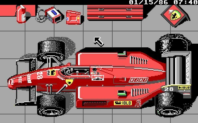 Ferrari Formula One <br><br> Die ersten Gehversuche von Electronic Arts in der Königsklasse reichen ebenfalls schon weit zurück: Die Premiere erfolgte 1988 mit Ferrari Formula One, bei der man sich ebenfalls in Simulationsgefilde begeben wollte. Neben Teams und Top-Fahrern aus der Saison 1986 waren sogar Arbeiten im Windtunnel sowie Ausflüge auf den Ferrari-Testtrack in Fiorano Bestandteil des Spiels. Die Rennlänge konnte außerdem auf 100 Prozent eingestellt werden - Übungs- und Qualifying-Sessions inklusive. Selbst Arbeiten am Setup waren hier schon möglich. 2270257
