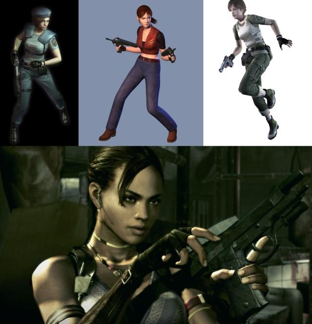 Die Resident Evil-Girlgroup <br><br>  Bei Resident Evil läuft seit den Anfängen des T-Virus nichts ohne Frauen-Power: Bei Jill Valentine und Claire Redfield haben Zombies nichts mehr zu lachen, obwohl beide zugegebenermaßen aber auch zum Anbeißen aussehen. Rebecca Chambers vom Alpha-Team hat sich dagegen von einem kurzen Auftritt im ersten Teil zur Heldin gemausert, die in Resident Evil Zero ebenfalls ihre Kämpfer-Qualitäten unter Beweis stellen konnte. Neuzugang Sheva Alomar fügt sich nahtlos in die Truppe ein: Ohne ihre Hilfe hätte Chris Redfield im fünften Teil oft ganz schön alt ausgesehen.  2146978