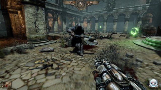 Gegner lassen nach ihrem endgültigen Ableben ihre Seelen zurück, die schnell eingesammelt werden sollten.