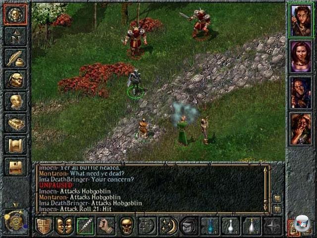 <b>Baldur's Gate</b> (30. November)<br><br>Das Rollenspiel, einst einer der Big Player auf dem Spielemarkt, lag Mitte der 90er Jahre brach - das Genre hatte sich nicht weiterentwickelt, technisch zeigten Egoshooter mittlerweile den Weg, verknöcherte Spielsysteme waren nicht mehr zeitgemäß. Bis schließlich Ende 1998 die kleine kanadische Firma BioWare, die vorher lediglich den okayen Mechwarrior-Klon »Shattered Steel« veröffentlicht hatten, mit Baldur's Gate dem Genre den lange benötigte Adrenalinstoß verpasste: Optisch riss das Spiel keine Bäume aus, aber die Atmosphäre, die Story, das Kampfsystem, die innovativen Quests, die freie Spielewelt, die perfekte Einbindung der D&D-Regeln - all das und mehr sorgten für Begeisterungsstürme unter den darbenden RPG-Fans; so etwas hatte es seit seligen Ultima 7-Zeiten nicht mehr gegeben. Und BioWare wurde über Nacht zur Traumschmiede. 1789693