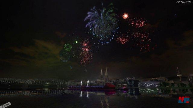 Funkenregen ohne Schwarzpulvergeruch: Der Großfeuerwerk-Simulator macht es möglich.