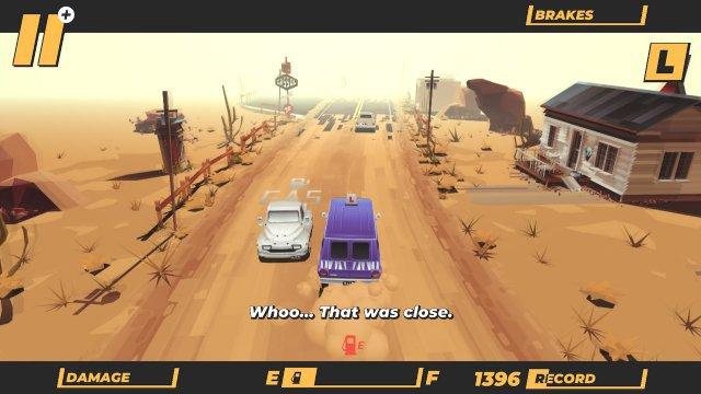 Vorsicht, Gegenverkehr. Erstaunlicherweise kollidiert man im Spielverlauf aber öften mit Autos, die in derselben Richtung unterwegs sind, wie man selbst.