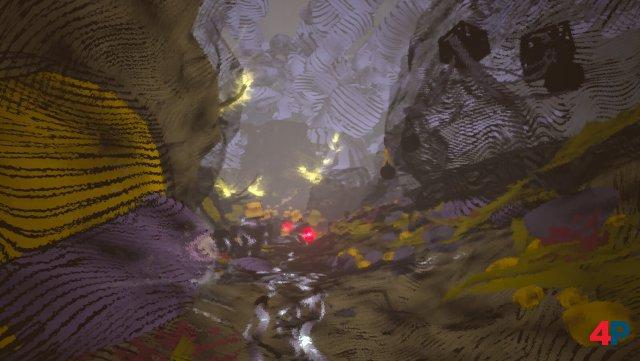 Auf der Suche nach Spuren erlebt man viel wirres Zeug - und ungewöhnliche Schauplätze samt experimentellen Grafikeffekten.
