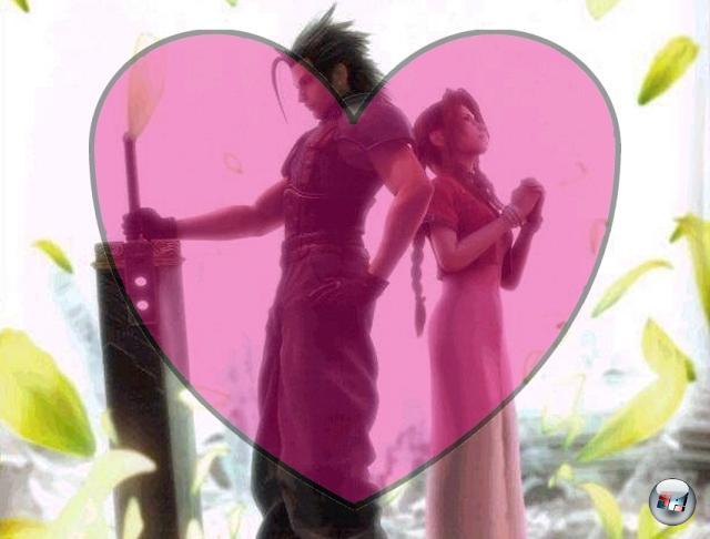 <b>Cloud Strife und Aerith Gainsborough (Final Fantasy 7)</b><br><br>Das Finalfantasyversum ist voller heißer Liebschaften und dramatischer Romanzen, aber keine kann mit der Beziehung von Cloud und Aerith mithalten. Er ein beinharter Söldner, sie ein reizendes Blumenmädchen - und dann ist da noch der dritte im Bunde: Sephiroth. Shakespeare hätte die zart knospende Romanze nicht tränenreicher beenden können. Schluchz. 1909383