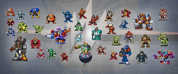 Eines der Erfolgsgeheimnisse der Mega Man-Serie ist, dass sie sich nicht auf den klassischen Blauschlumpf-Charakter beschränkt, sondern die »Franchise« in viele Richtungen erfolgreich weitergesponnen hat, ohne dabei die Grundpfeiler zu vergessen. Einer der wichtigsten davon war schon immer die Nutzung abgefahrener Bossgegner, die sich am besten mit der Waffe eines vorher besiegten Übelwutzes erledigen ließen. Dieser clevere Kniff verlieh den Jump-n-Runs nicht nur eine unerwartete Tiefe, sondern sorgte auch für rabenschwarze Augenränder bei den Zockern, die auf der Suche nach der optimalen Durchspiel-Reihenfolge unvermeidlich waren. Außerdem waren die Namen der Bosse, die Capcom in frühen Teilen übrigens immer von Gewinnern aus Wettbewerben des japanischen Nintendo-Magazins kreieren ließ, schön pragmatisch, wenn auch nicht gerade irre kreativ: Ice Man, Snake Man, Elec Man, Fire Man, Cut Man, Metal Man, Wood Man, Pirate Man, Needle Man, Hard Man, Shadow Man, Magnet Man, Bright Man, Pharaoh Man, Dust Man, Ring Man, Grenade Man, Drill Man, Stone Man, Napalm Man, Gravity Man, Magic Man, Crystal Man, Knight Man, Toad Man, Wind Man, Flame Man, Dynamo Man, Blizzard Man, Top Man, Cloud Man, Junk Man... 1734148