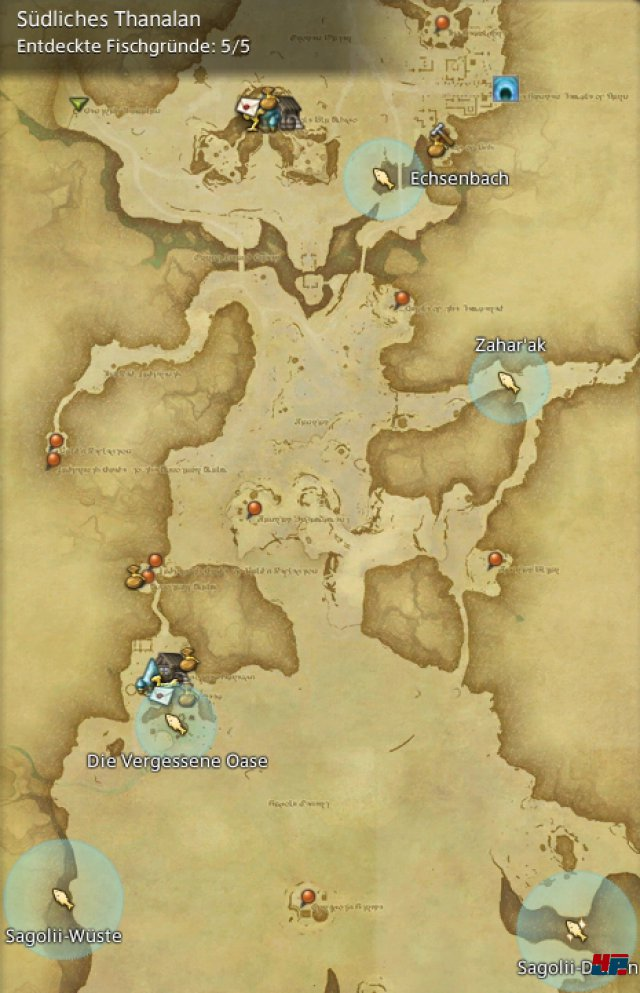 Final Fantasy XIV Online: A Realm Reborn - Fischgründe: Thanalan, Südliches Thanalan
