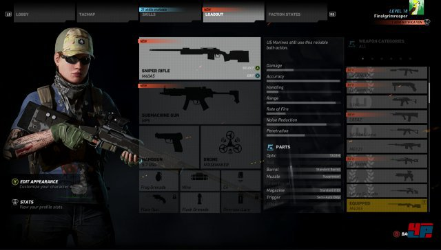 Es gibt über 50 Waffen, die man mit über 100 Einzelteilen modifizieren kann. Allerdings hat man kaum Veranlassung dafür...