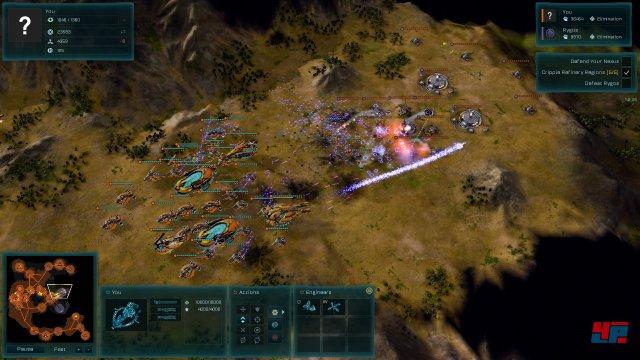 Der Angriff wird mit Dreadnoughts und Kreuzern geführt.