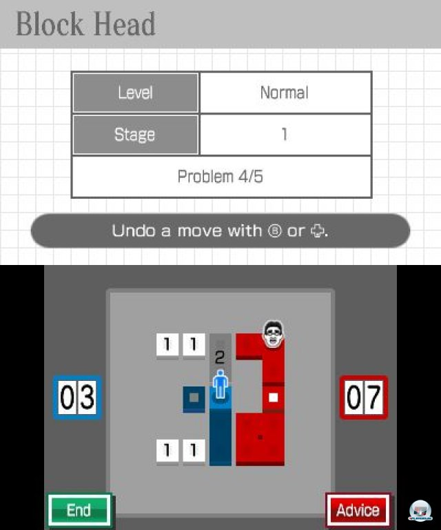 Screenshot - Dr. Kawashimas diabolisches Gehirn-Jogging: Können Sie konzentriert bleiben? (3DS)