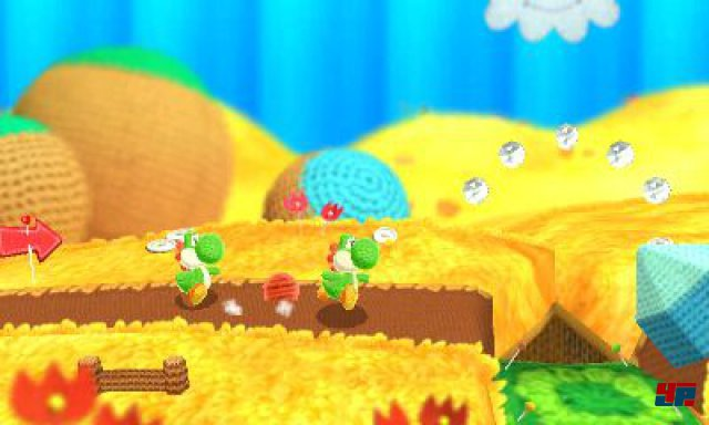 Screenshot - Poochy und Yoshi's Woolly World (3DS)
