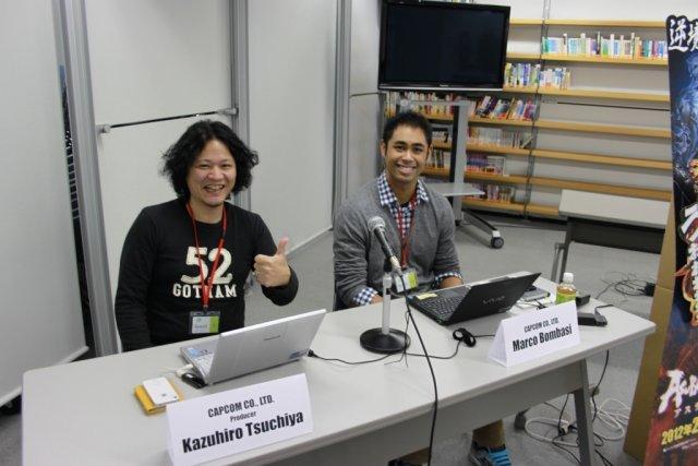Sprachbarrieren <br><br> Auch Produzent Kazuhiro Tsuchiya war zugegen, der vor allem auf die Rolle Capcoms bei der Entwicklung einging - wie alle anderen auf Japanisch. Um die Sprachbarrieren einzureißen, sorgte Marco Bombasi für die englische Übersetzung. 2317627