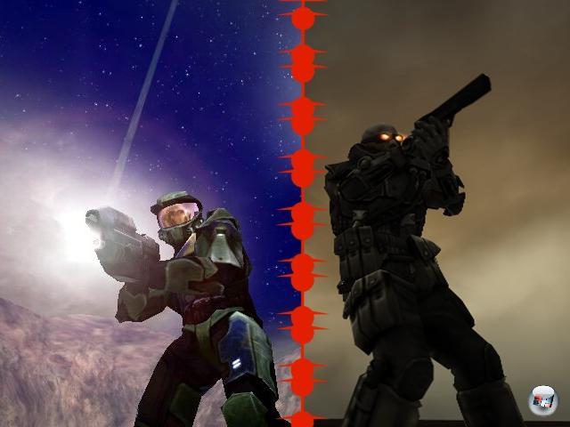 <b>Halo vs. Killzone:</b><br><br>Halo kam 2001 aus dem Halbnichts: Zuerst als reiner PC-Titel angekündigt wanderte Bungies Spiel, das seine Wurzeln in den Marathon-Games hatte, über Take 2 zu Microsoft, um dort als Xbox-Launchtitel die Welt der Konsolen-Shooter für immer zu verändern - mit Halo kapierten endlich die meisten, dass man für großartigen Shooter-Spaß weder Maus noch Tastatur benötigt. Zwar hatten des Master Chiefs Abenteuer ihre Schwächen (ich werfe einfach mal so das Wort »Bibliothek« in den Raum), aber das Gesamterlebnis ist bis heute toll. So toll sogar, dass in den Jahren danach der Begriff »Halo-Killer« etwas zu großzügig unter die Leute geworfen wurde - selbst in Code gegossener Dreck wie Breed wurden im Vorfeld als potenzieller Halo-Killer bejubelt. Schlussendlich gelang nur einem Spiel zumindest die Annäherung an Halos Größe: Killzone. Das gerade (endlich) in die zweite Runde geht. 1906523