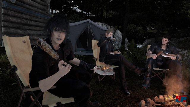 Man trifft während seiner Angel-Ausflüge auch immer wieder auf die Protagonisten des Hauptspiels.
